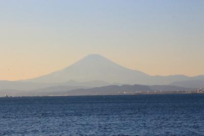 帰りに見えた富士山.JPG